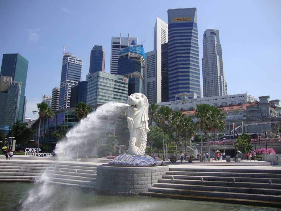 La statua del Merlion a Singapore