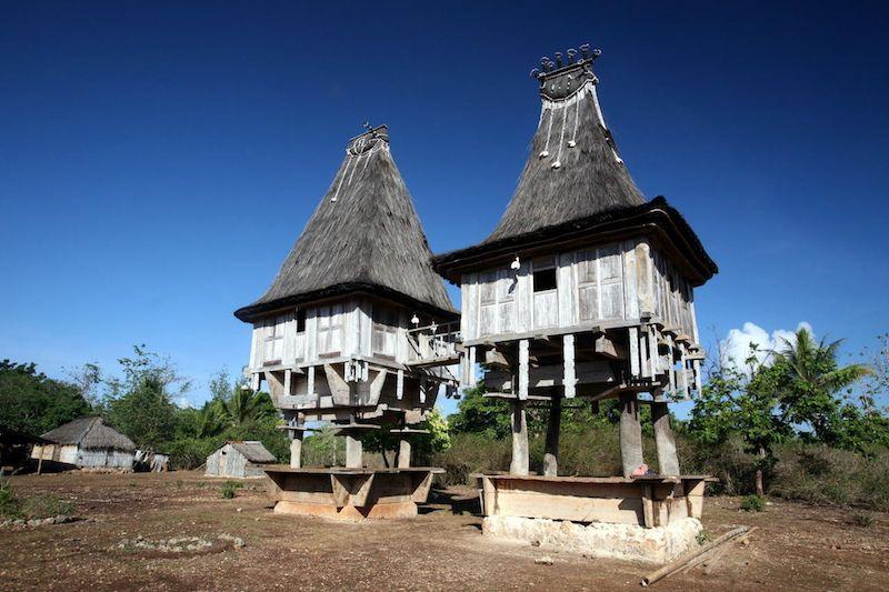 Case tipiche di Lospalos Timor Est
