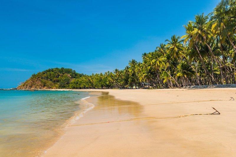 Una delle spiagge più belle della Birmania