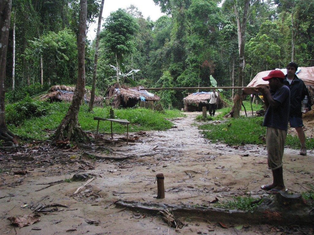Villaggio di orang asli in Malesia