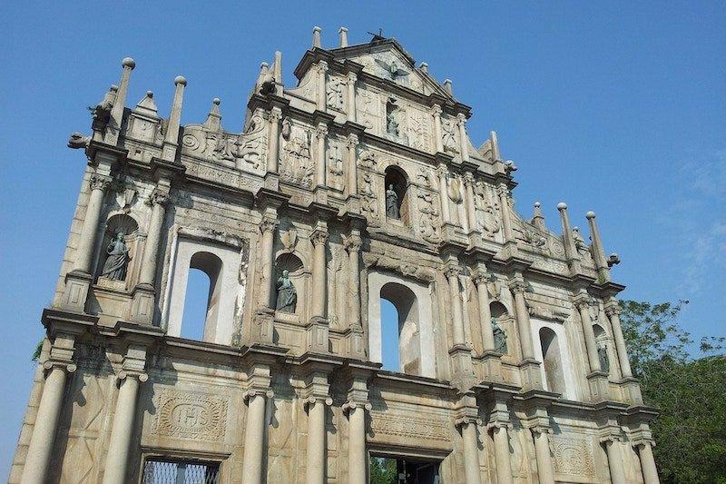 I resti della Cattedrale di Macau