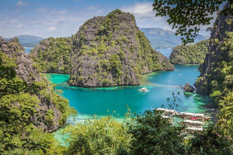 Vista panoramica dell'isola di Coron nelle Filippine
