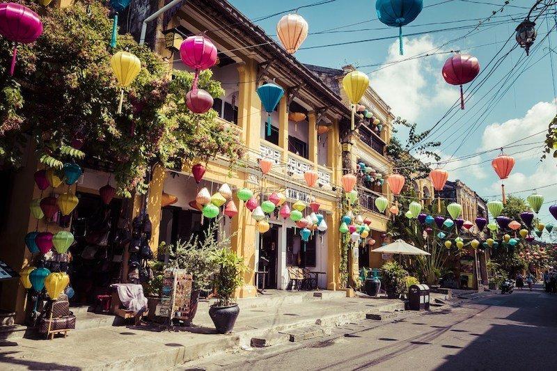 Quartiere antico di Hanoi di notte