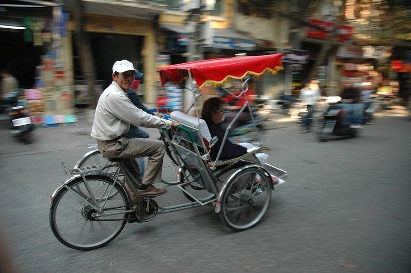 Il Cyclo in Vietnam è uno dei mezzi di trasporto più bizzarri in Asia