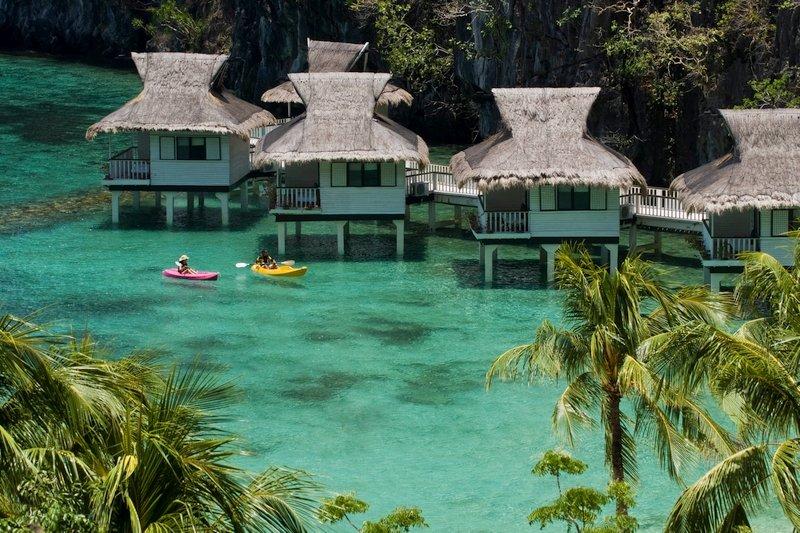 Bungalow sul mare al Miniloc El Nido Resorts nelle Filippine