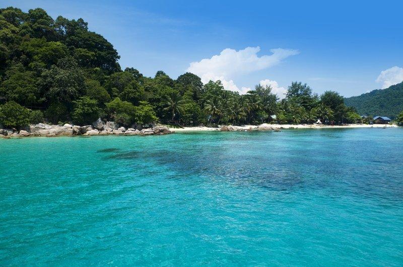 Mare cristallino delle isole Pehentian in Malesia