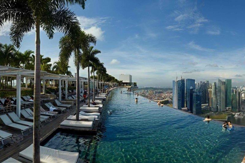 La piscina del Marina Bay Sands