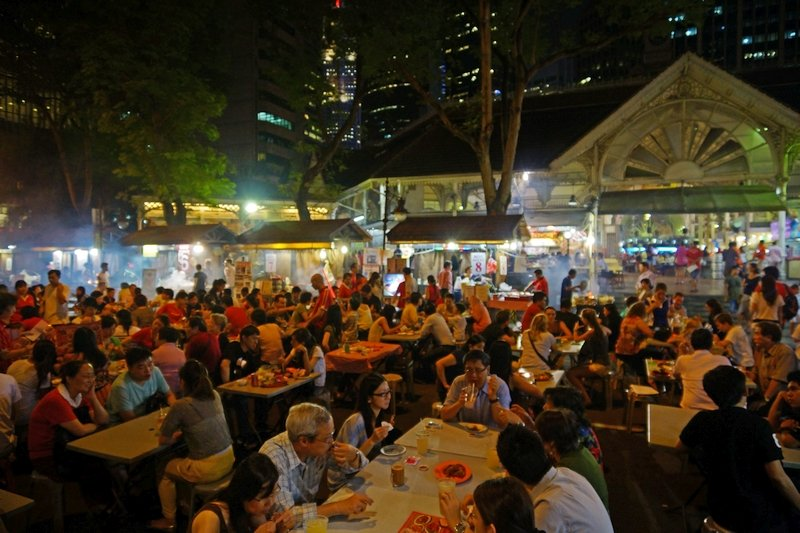 Street Food a Maxwell Centre Singapore