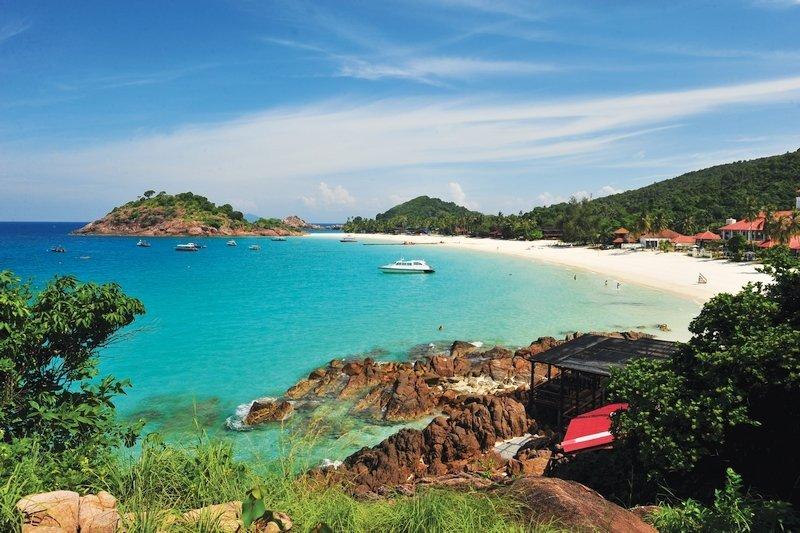 Splendida baia naturale dell'isola di Redang in Malesia