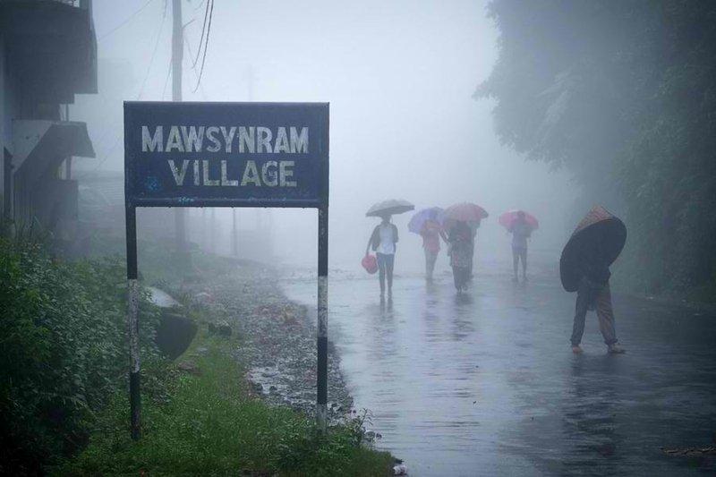 Luogo piu' piovoso al mondo Meghalaya