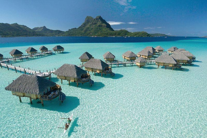 Bellissima laguna a Bora Bora