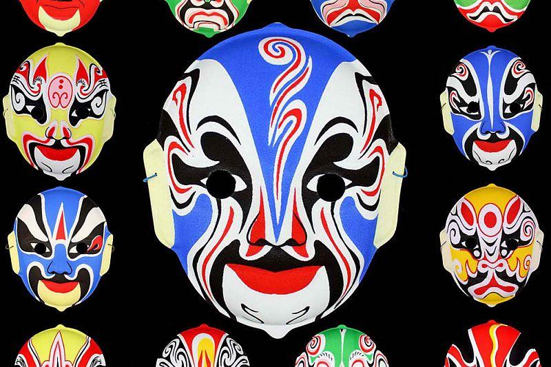 Collezione di Maschere tradizionali Cinesi
