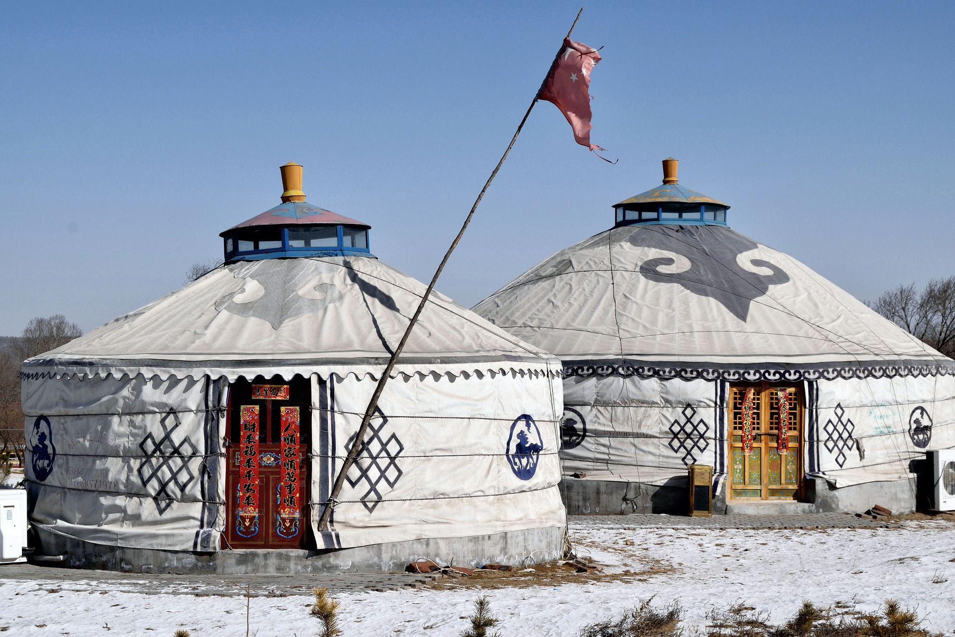 Tende della Mongolia