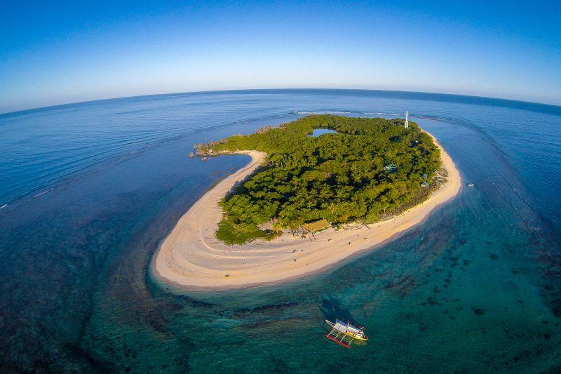 Vista aerea di Apo Reef A Mindoro