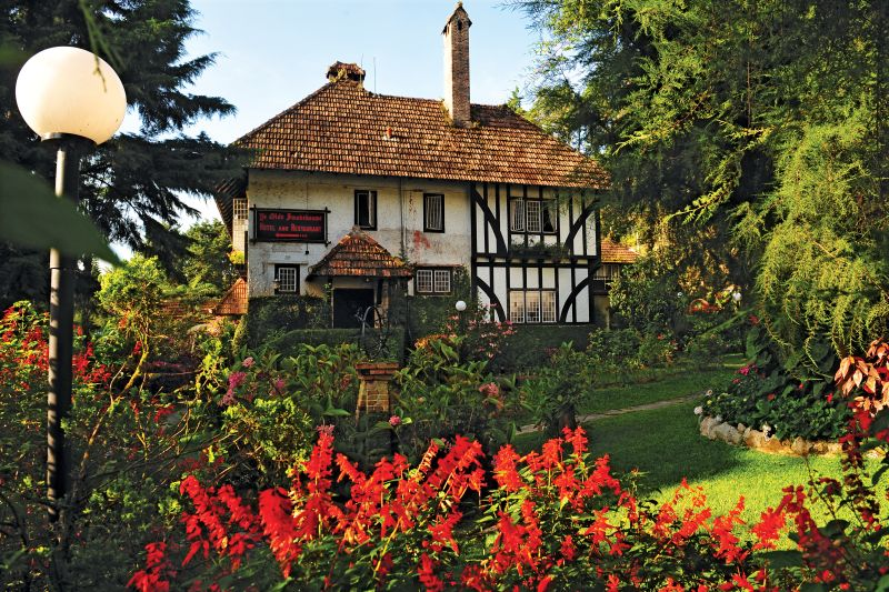 Casa coloniale in stile Tudor a Cameron Highlands in Malesia