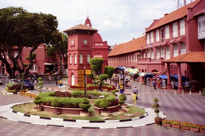 Piazza principale della città storica di Malacca, Malesia
