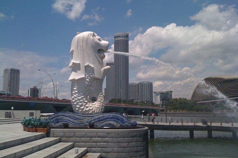 Statua del Merlion a Singapore