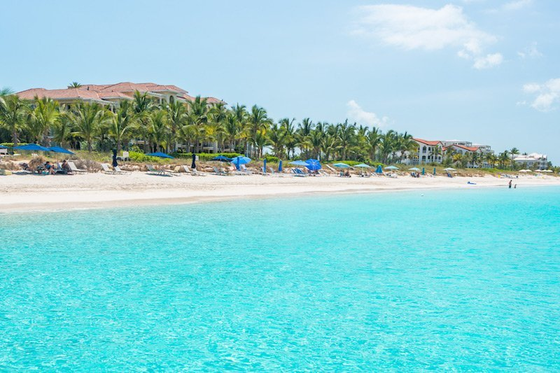 Mare turchese a Grace Bay a Providenciales, Turks and Caicos