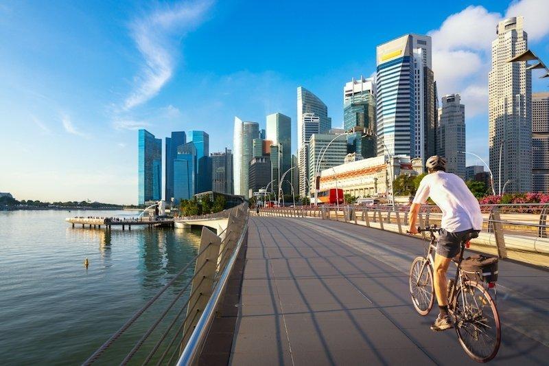 Andare in bicicletta a Singapore