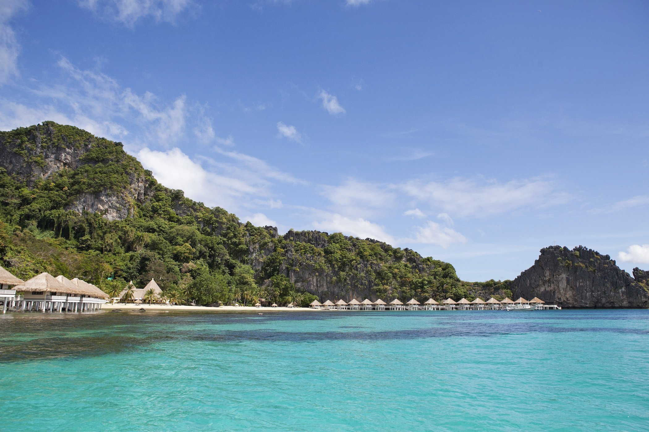 Spettacolare mare turchese a Apuilt Island Palawan