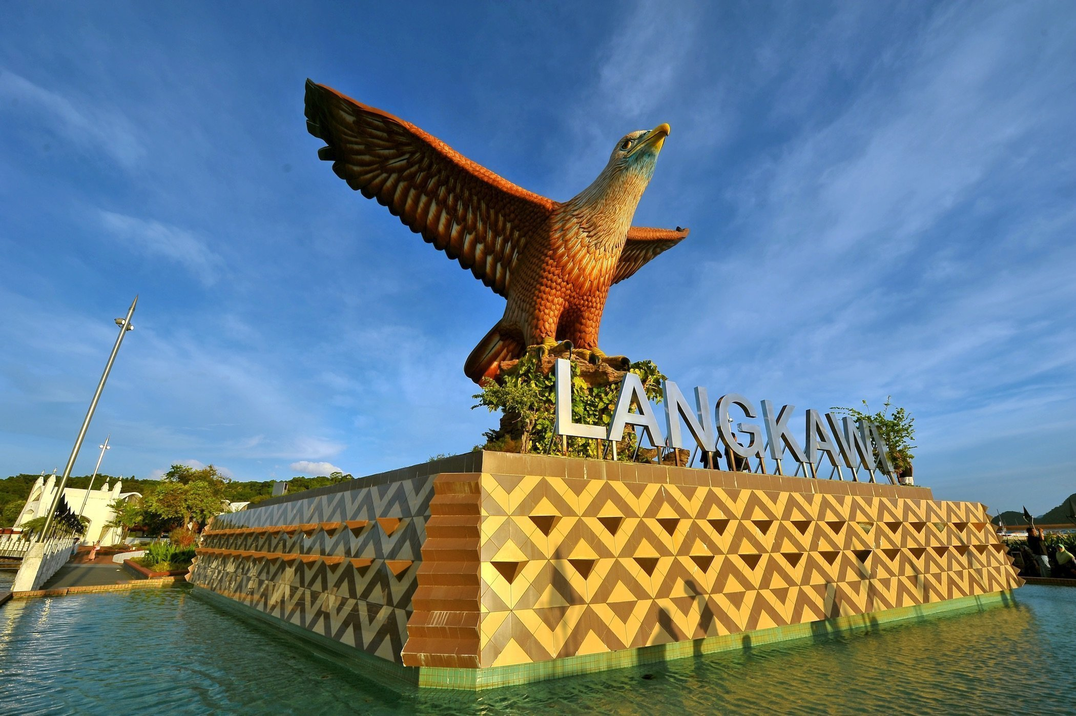 Monumento con aquila a Langkawi, Malesia