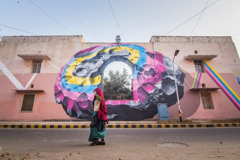 Street Art a Delhi India