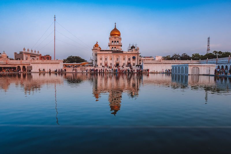 Gurudwara Bangla Sahib, Sikh house of worship, in Delhi, India
