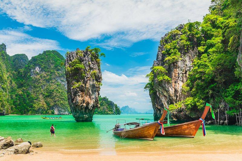 Spiaggia di James Bond Island a Phuket Thailandia