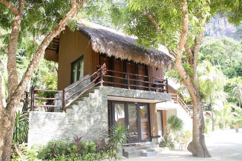 Cottage che si affaccia sul giardino di Miniloc Island, El Nido
