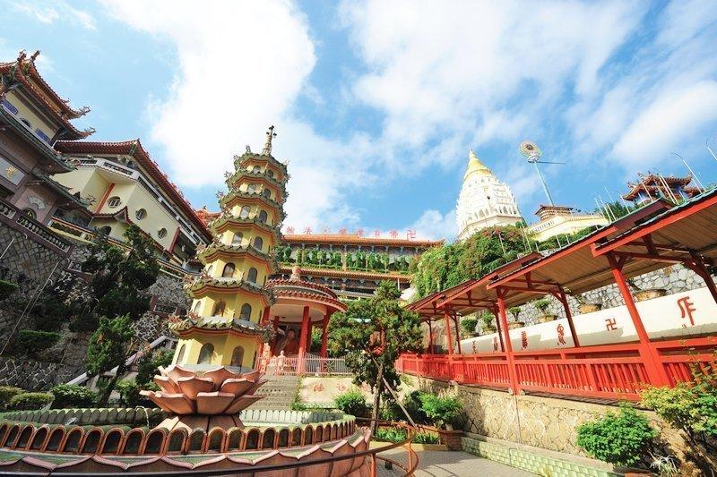 Ingresso del Tempio Buddista Kek Lok Si a Penang, Malesia