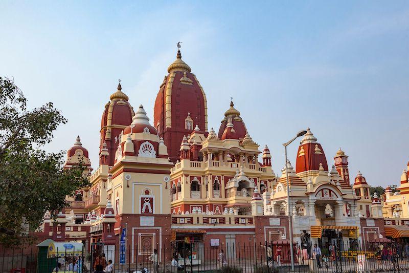 Tempio di Sri Digambar Jain a Delhi, India