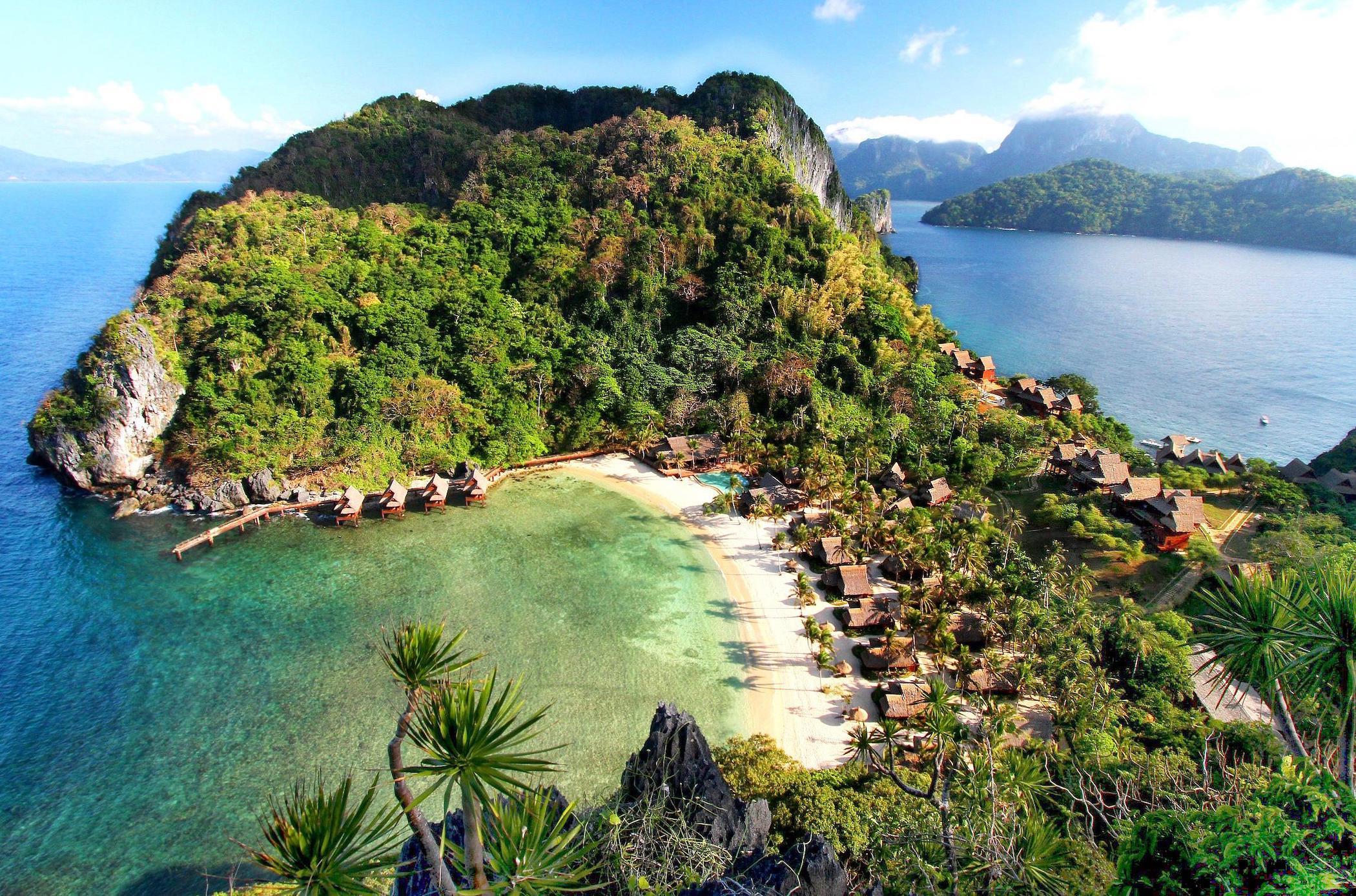Vista aerea di Cauayan Island Resort El Nido