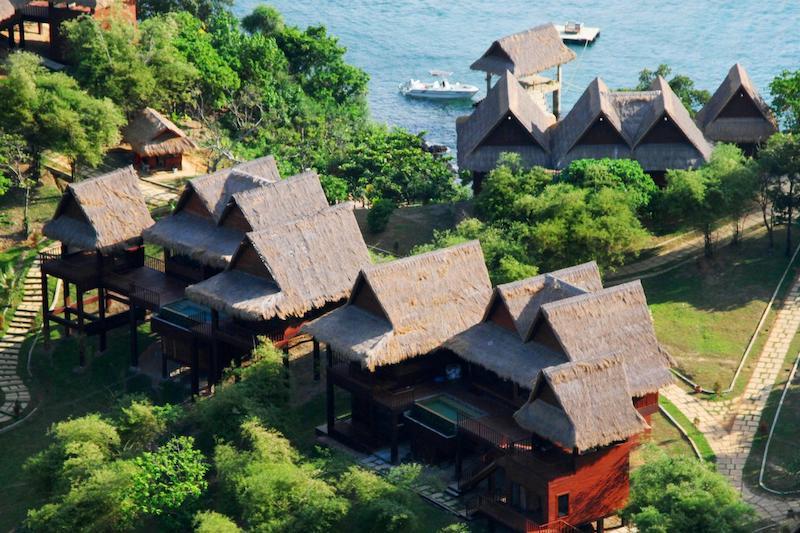 Vista panoramica delle ville Cauayan Island Resort El Nido