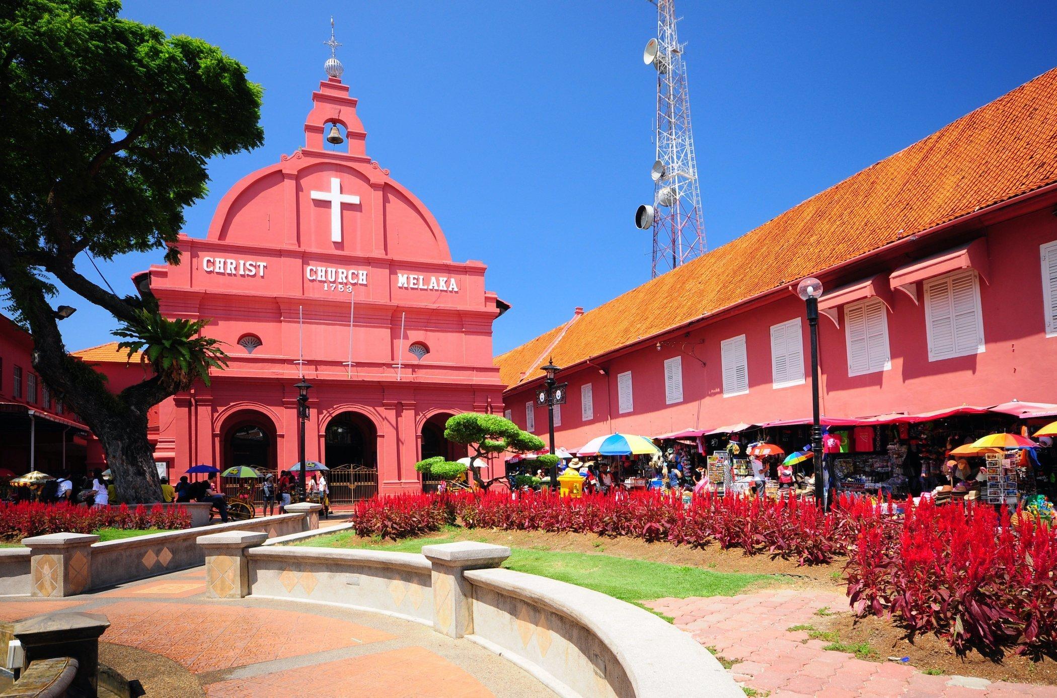 La Dutch Square è una delle attrazioni di Malacca, Malesia