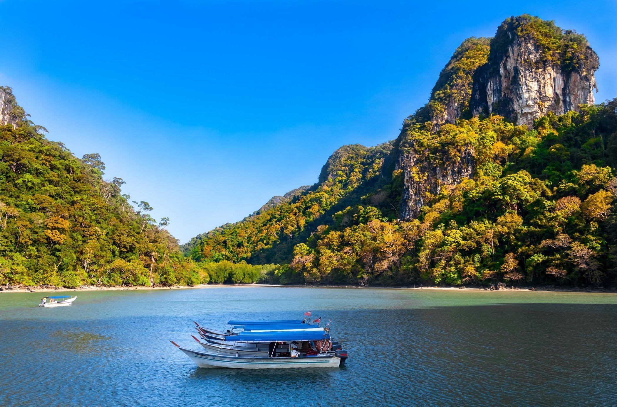 Crociera in barca per visitare la foresta di mangrovie di Langkawi, Malesia