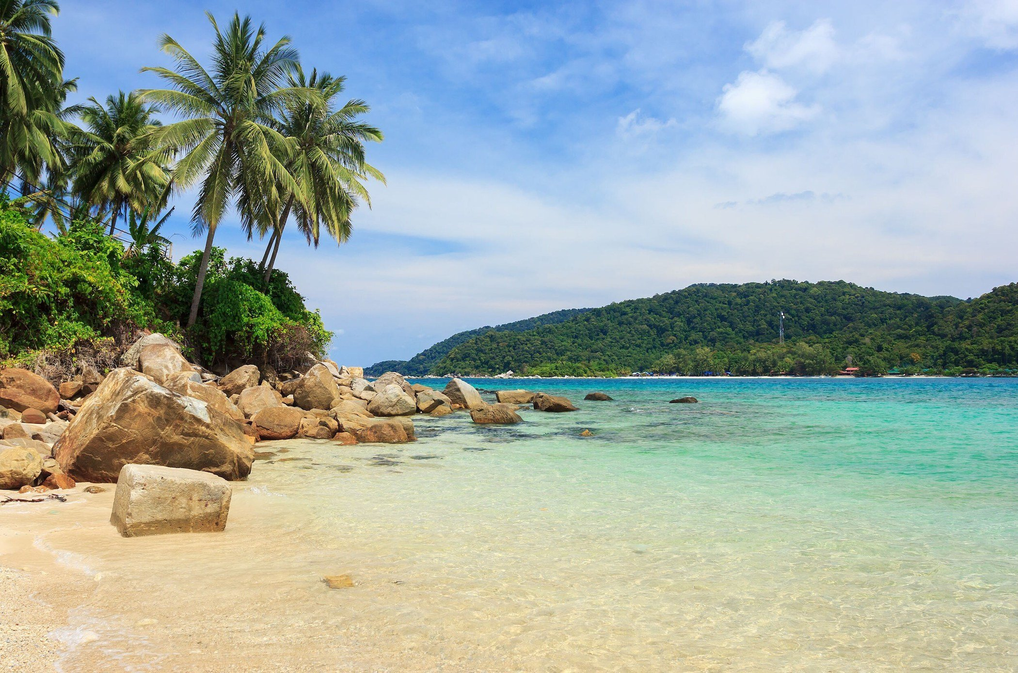 Bellissimo mare alle isole Perhentian in Malesia