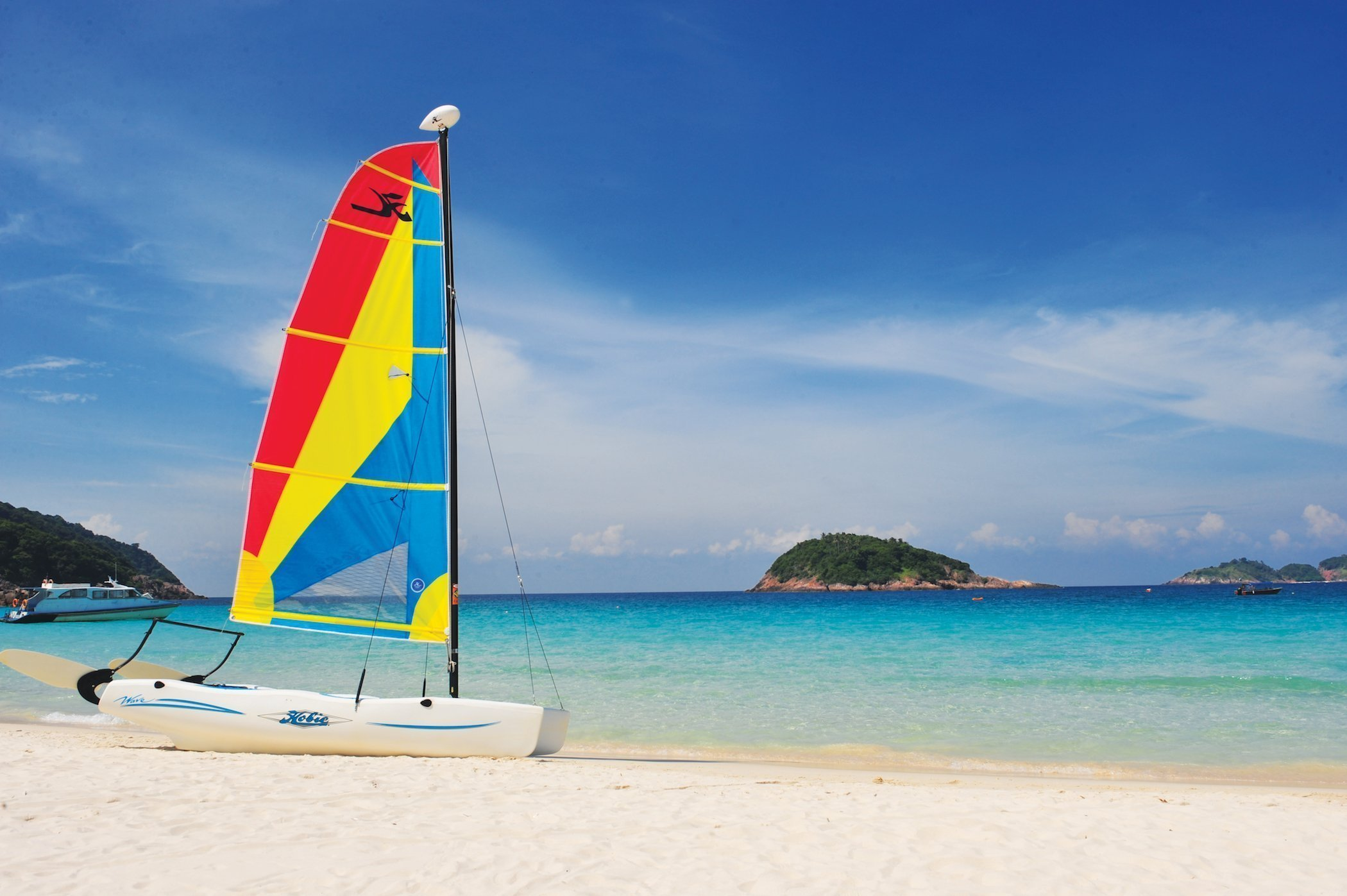 Bellissima spiaggia sull'isola di Redang, Malesia