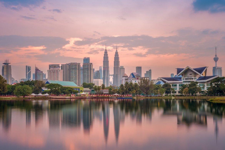 Tramonto a Kuala Lumpur, Malesia