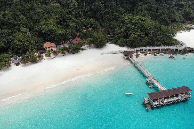 veduta aerea di Mutiara Beach a Redang, Malesia